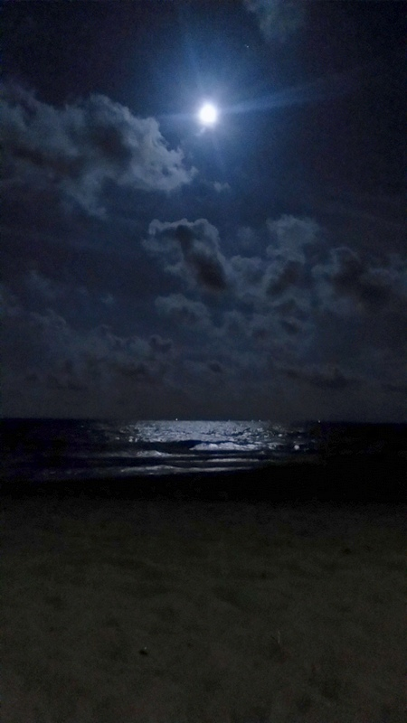 Full moon over Trincomalee