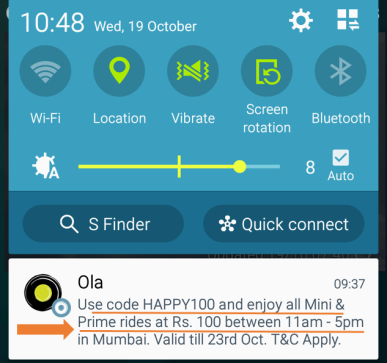 OlaCabs Marketing Gimmicks