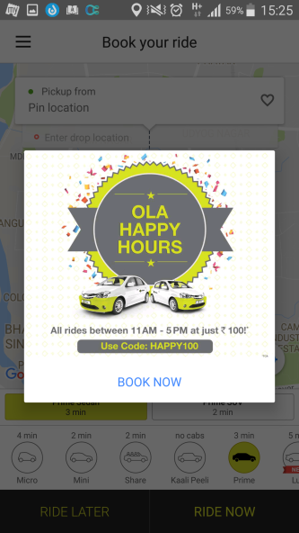 HAPPY100_OlaCabs_Marketing_Gimmick